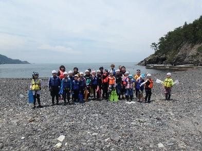 元気ッズクラブ 7月イベント報告 青海島 シュノーケル&ダイビングで海探検!!